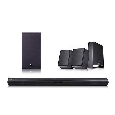 LG SJ4R Barre de son 4.1 420W - Hi-Res Audio - Bluetooth - HDMI - Enceintes arrière - Caisson de basses sans fil