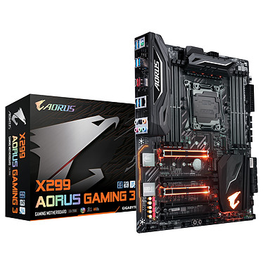 Gigabyte X299 AORUS Gaming 3 Carte mère ATX Socket 2066 Intel X299 Express - DDR4 - SATA 6Gb/s - M.2 - USB 3.1 - 2x PCI-Express 3.0 16x