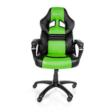 Arozzi Monza (vert) Siège en simili-cuir avec dossier inclinable et accoudoirs fixes pour gamer (jusqu'à 105 kg)