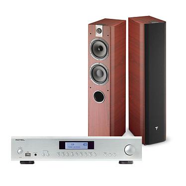 Rotel A-12 Argent + Focal Chorus 716 Rosewood Amplificateur intégré Hi-Fi stéréo 2 x 60 Watts avec Bluetooth et DAC + Enceinte colonne (par paire)