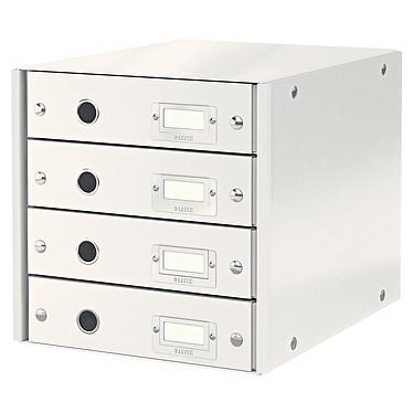 Leitz Bloc de classement à tiroirs Leitz Click & Store Blanc Bloc de classement 4 tiroirs fermés 24 x 32 cm coloris Blanc