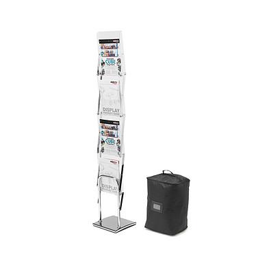 deflecto Présentoir sur pied pliable 4 niveaux A4 Présentoir sur pied plexiglas avec 4 niveaux au format A4
