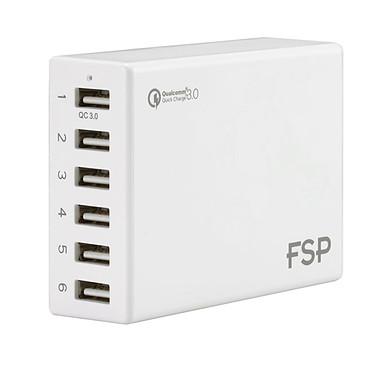 FSP Amport 62 Blanc Hub 6 ports USB avec un port USB charge rapide (coloris blanc)