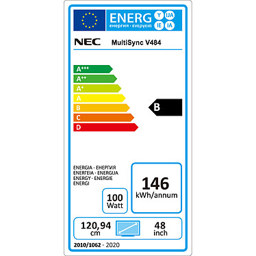 """NEC 48"""" LED - MultiSync V484 pas cher"""