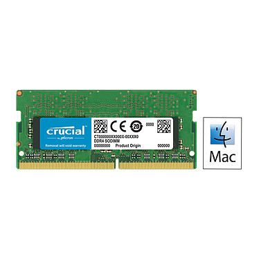 Crucial for Mac SO-DIMM DDR4 16 Go 2400 MHz CL17 RAM DDR4 PC4-19200 - CT16G4S24AM (garantie à vie par Crucial)