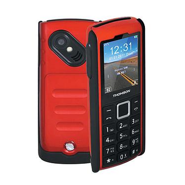 "Thomson Tlink 20S+ Rouge Téléphone 2G Dual SIM IP67 - Ecran 2"" 176 x 220 - Bluetooth - 1050 mAh"