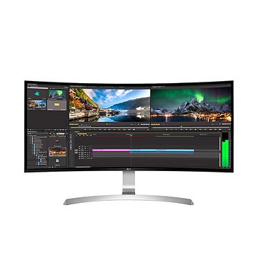 "LG 34"" LED - 34UC99-W 3440 X 1440 pixels - 5 ms (gris à gris) - Format 21/9 - Dalle IPS incurvée - HDMI/DisplayPort/Hub USB 3.0 - Blanc/Argent"