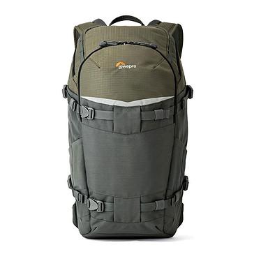 Lowepro Flipside Trek BP 350 AW Gris/Vert Sac à dos baroudeur pour appareil photo reflex avec accessoires