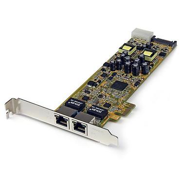 StarTech.com ST2000PEXPSE Carte Réseau PCI Express 2 ports Gigabit Ethernet RJ45 10/100/1000Mbps - POE/PSE