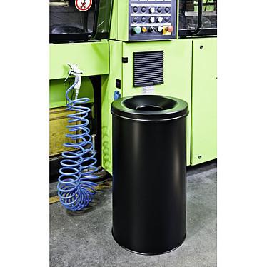 DURABLE Corbeille anti-feu 60 litres Noir pas cher