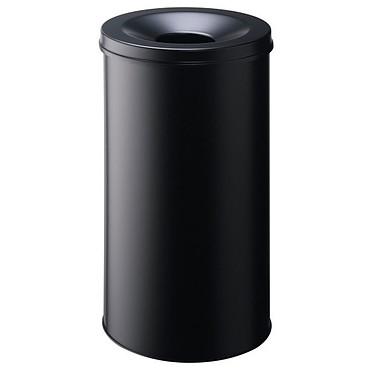 DURABLE Corbeille anti-feu 60 litres Noir Corbeille anti-feu avec couvercle étouffoir 60 litres Noir