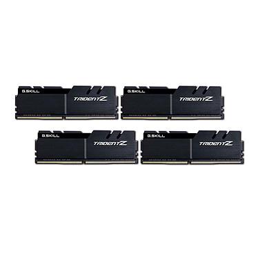 G.Skill Trident Z 64 Go (4x 16 Go) DDR4 3466 MHz CL16 Kit Quad Channel 4 barrettes de RAM DDR4 PC4-27700 - F4-3466C16Q-64GTZKK  Noir