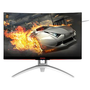 """AOC 27"""" LED - AGON AG272FCX6 1920 x 1080 pixels - 4 ms (gris à gris) - Format large 16/9 - Dalle MVA incurvée - 165 Hz - DisplayPort - HDMI - FreeSync/Compatible G-Sync - Hub USB 3.0 - Noir/Argent"""