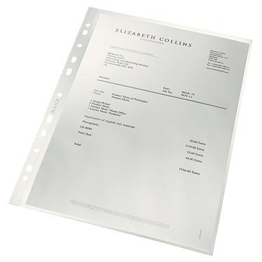Leitz Pochettes perforées A4 incolore recyclée x 100