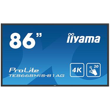 """iiyama 86"""" LED - Prolite TE8668MIS-B1AG Écran tactile multipoint 3840 x 2160 pixels 16:9 - IPS-AG - 1200:1 - 8 ms - HDMI - DisplayPort - Haut-parleur intégré - Noir"""