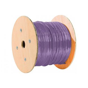Câble Monobrin RJ45 catégorie 6 F/UTP rouleau de 305 mètres (Violet) Câble ethernet pour installation réseau professionnelle - certifié LSOH - conforme RPC Euroclass