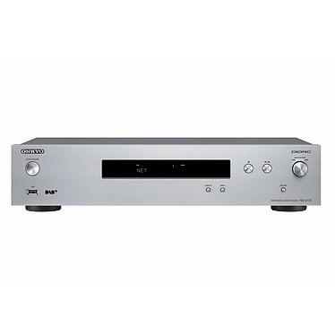 Onkyo NS-6170 Argent Lecteur audio réseau Hi-Res Audio avec Wi-Fi, Multiroom, AirPlay, ChromeCast, DLNA, Tuner FM/RDS/DAB+ et double convertisseur N/A 768 kHz/32 bits
