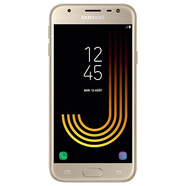 "Samsung Galaxy J3 2017 Or Smartphone 4G-LTE - Exynos 7570 Quad-Core 1.4 Ghz - RAM 2 Go - Ecran tactile 5"" 720 x 1280 - 16 Go - NFC/Bluetooth 4.2 - 2400 mAh - Android 7.0"