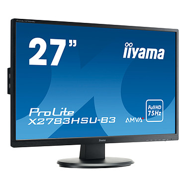 "iiyama 27"" LED - ProLite X2783HSU-B3 1920 x 1080 pixels - 4 ms - Format large 16/9 - Full HD - Dalle AMVA+ - HDMI/DisplayPort/VGA - Hub USB - Noir"