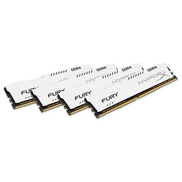HyperX Fury Blanc 64 Go (4x 16 Go) DDR4 2133 MHz CL14