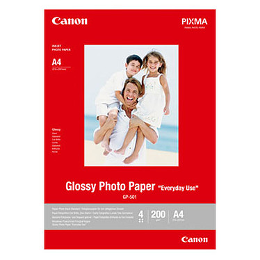 """Canon GP-501 Glossy Canon GP-501 Glossy - Papier Photo Glacé """"usage quotidien"""" A4 200 g (20 feuilles)"""