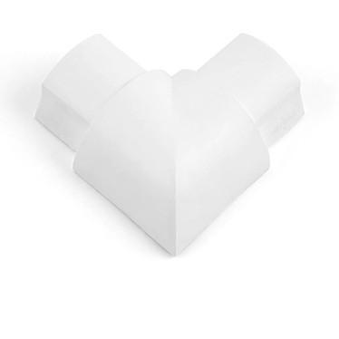 D-Line FB3015W Angle plat pour moulure décorative en demi-cercle 30mm x 15mm - Blanc