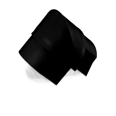 D-Line EB5025B Angle externe pour moulure décorative en demi-cercle 50mm x 25mm - Noir
