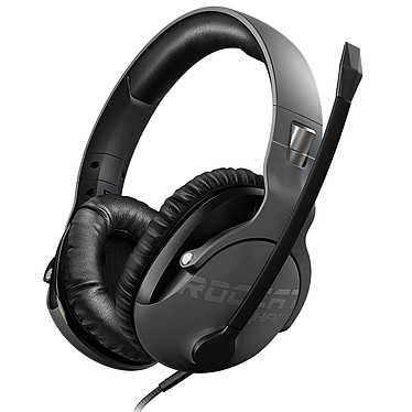ROCCAT Khan Pro Gris Casque-micro certifié Hi-Res Audio pour gamer (compatible PC / Mac / PS4 / Xbox One / tablettes / smartphones)