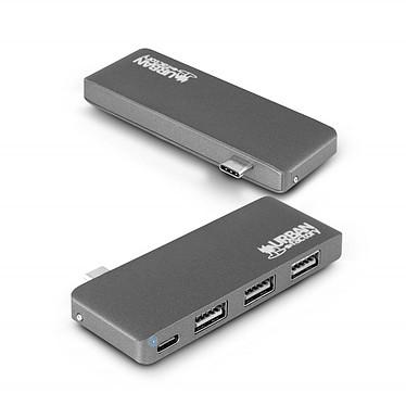 Urban Factory HUBEE HUB 2.0 (TCH02UF) Hub USB-C (Thunderbolt 3) avec 3 ports USB 2.0