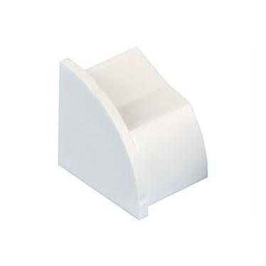 D-Line EC22QSW/L Bouchon gauche pour moulure décorative en demi-cercle 22mm x 22mm - Blanc