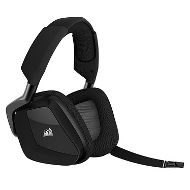 Corsair Gaming VOID Pro RGB Wireless (noir) Casque gaming - sans fil - son Dolby Surround 7.1 - micro antibruit - rétroéclairage RGB - certifié Discord