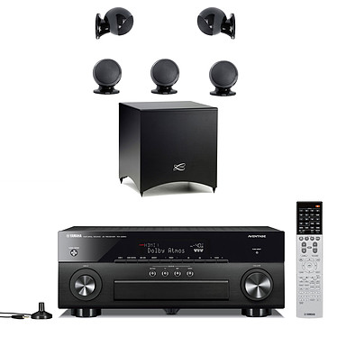 Yamaha MusicCast RX-A860 Noir + Cabasse Alcyone 2 Pack 5.1 Noir