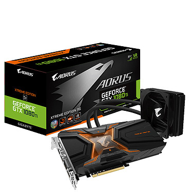 Gigabyte Aorus GeForce GTX 1080 Ti Waterforce Xtreme Edition 11264 Mo DVI/Dual HDMI/Tri DisplayPort - PCI Express (NVIDIA GeForce avec CUDA GTX 1080 Ti)