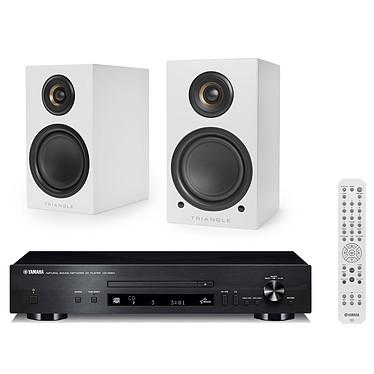 Yamaha CD-N301 Noir + Triangle Elara LN01A Blanc mat
