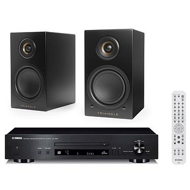 Yamaha CD-N301 Noir + Triangle Elara LN01A Noir mat