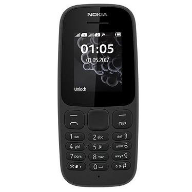 """Nokia 105 Dual SIM Noir (TA-1034) Téléphone 2G Dual SIM - RAM 4 Mo - Ecran 1.77"""" 128 x 160 pixels - 4 Mo - 800 mAh"""