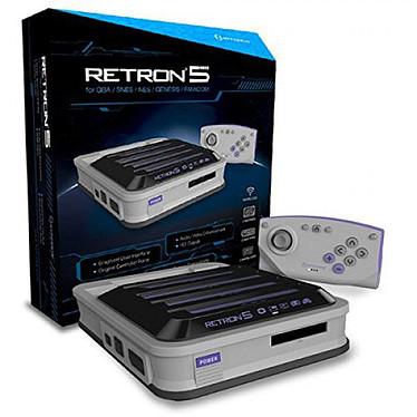 Hyperkin RetroN 5 (Gris) Consola para NES / Super NES / GameBoy / GameBoy Color / GameBoy Advance / Megadrive / Famicom / Super Famicom y Genesis