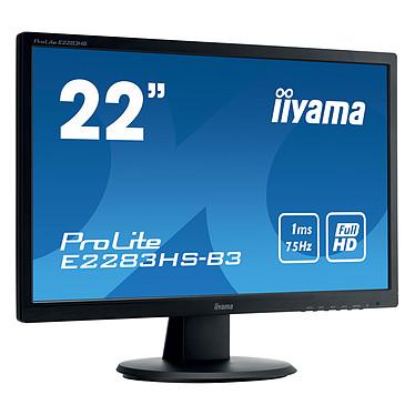 "iiyama 21.5"" LED - ProLite E2283HS-B3 1920 x 1080 pixels - 1 ms - Format large 16/9 - HDMI - Noir"