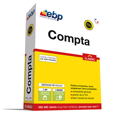 EBP Compta Classic + Service VIP Logiciel de comptabilité (français, WINDOWS)