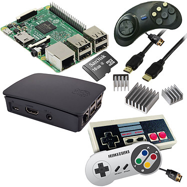 Raspberry Pi 3 Rétrogaming Kit (noir)