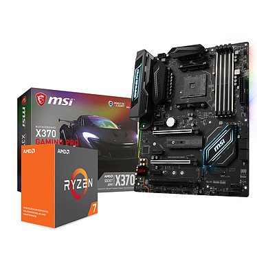 Kit Upgrade PC AMD Ryzen 7 1700 MSI X370 GAMING PRO CARBON Carte mère ATX Socket AM4 AMD X370 + CPU AMD R7 1700 (3.0 GHz)