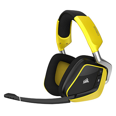 Corsair Gaming VOID Pro RGB Wireless Special Edition (jaune) Casque gaming - sans fil - son Dolby Surround 7.1 - micro antibruit - rétroéclairage RGB - certifié Discord