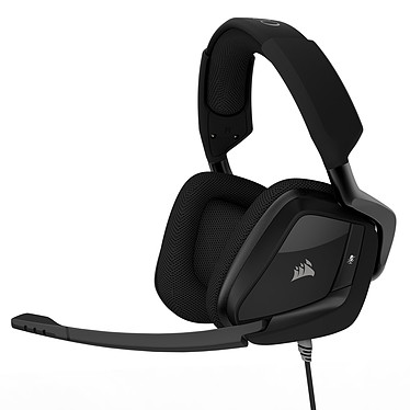 Corsair Gaming VOID Pro Surround (noir) Casque gaming - Jack/USB - son Dolby Surround 7.1 - micro antibruit - rétroéclairage RGB - certifié Discord - compatible PC, PS4, Xbox One, Nintendo Switch, smartphones