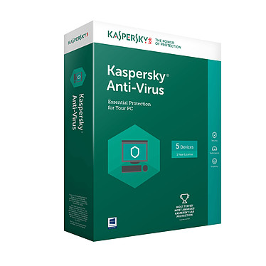 Kaspersky Anti-Virus 2018 - Licence 1 an 3 postes