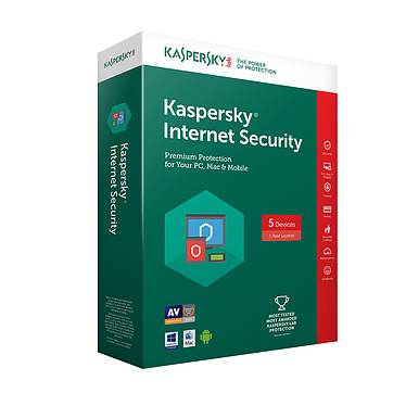 Kaspersky Internet Security 2018 - Licence 3 postes 1 an