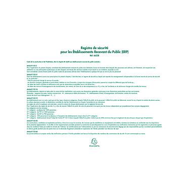 Acheter Exacompta Registre de Sécurité pour les ERP