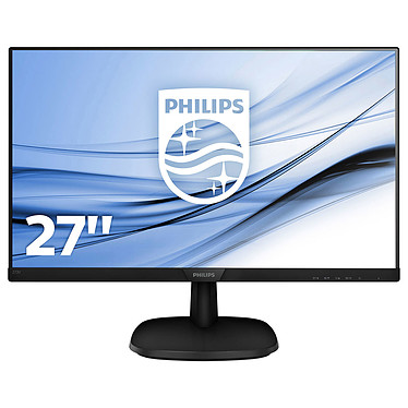 "Philips 27"" LED - 273V7QDSB/00 1920 x 1080 pixels - 5 ms (gris à gris) - Format large 16/9 - Dalle IPS - HDMI - Noir"
