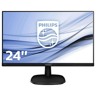 "Philips 23.8"" LED - 243V7QDSB/00 1920 x 1080 pixels - 5 ms (gris à gris) - Format large 16/9 - Dalle IPS - HDMI - Noir"