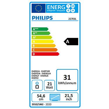 """Acheter Philips 21.5"""" LED - 227E6LDAD/00"""