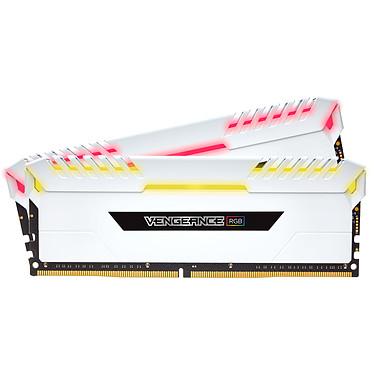 Corsair Vengeance RGB Series 16 Go (2x 8 Go) DDR4 3600 MHz CL18 - Blanc Kit Dual Channel 2 barrettes de RAM DDR4 PC4-28800 - CMR16GX4M2C3600C18W (garantie à vie par Corsair)